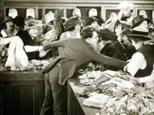 Harold Lloyd in Safety Last department store gag