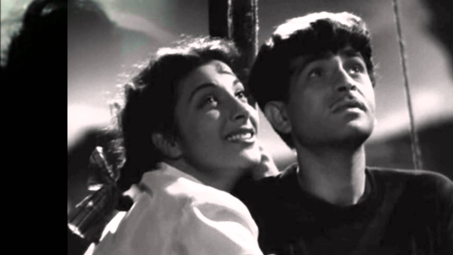 Leela Chitnis and Raj Kapoor in Awaara