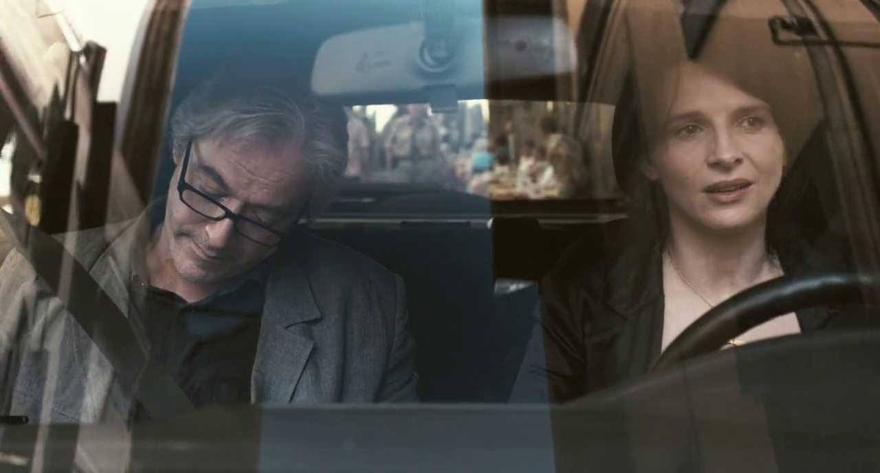 Car rather than train in Kiarostami's Certified Copy