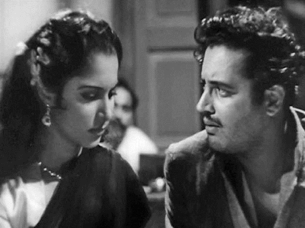 Guru Datt and Mala Sinha in Pyaasa