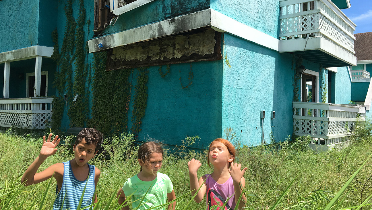 Brooklynn Prince, Christopher Rivera, and Valeria Cotto in Sean Baker's The Florida Project