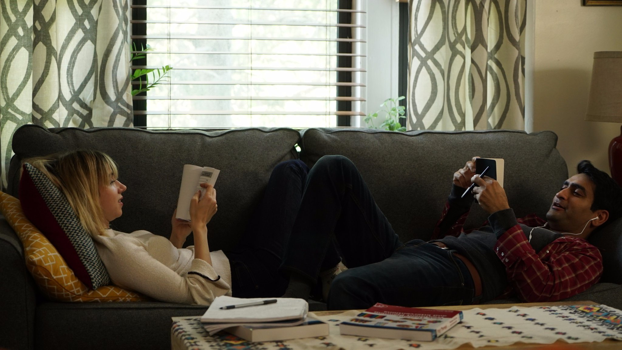 Kumail Nanjiani and Emily V. Gordon in The Big Sick