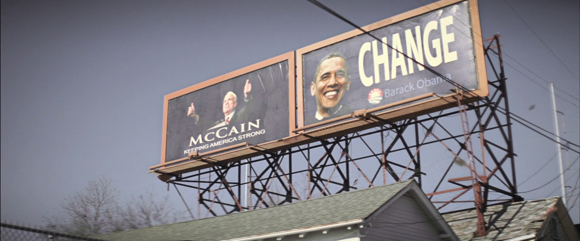 Obama/McCain billboards in Killing Them Softly