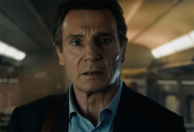 Liam Neeson close-up in The Commuter