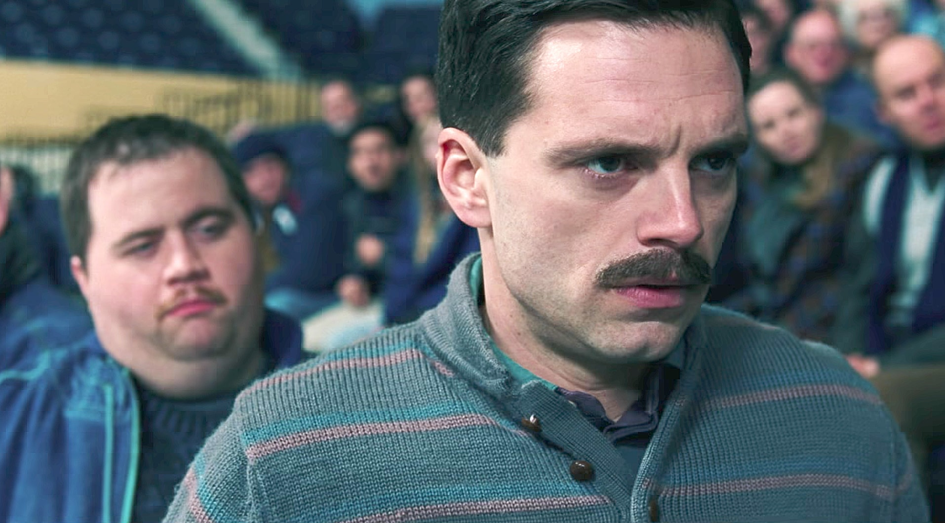 Sebastian Stan and Paul Walter Hauser in I, Tonya