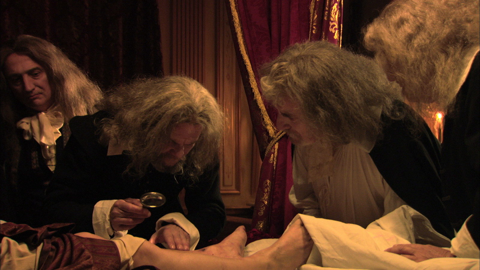 Examining the King's body in The Death of Louis XIV