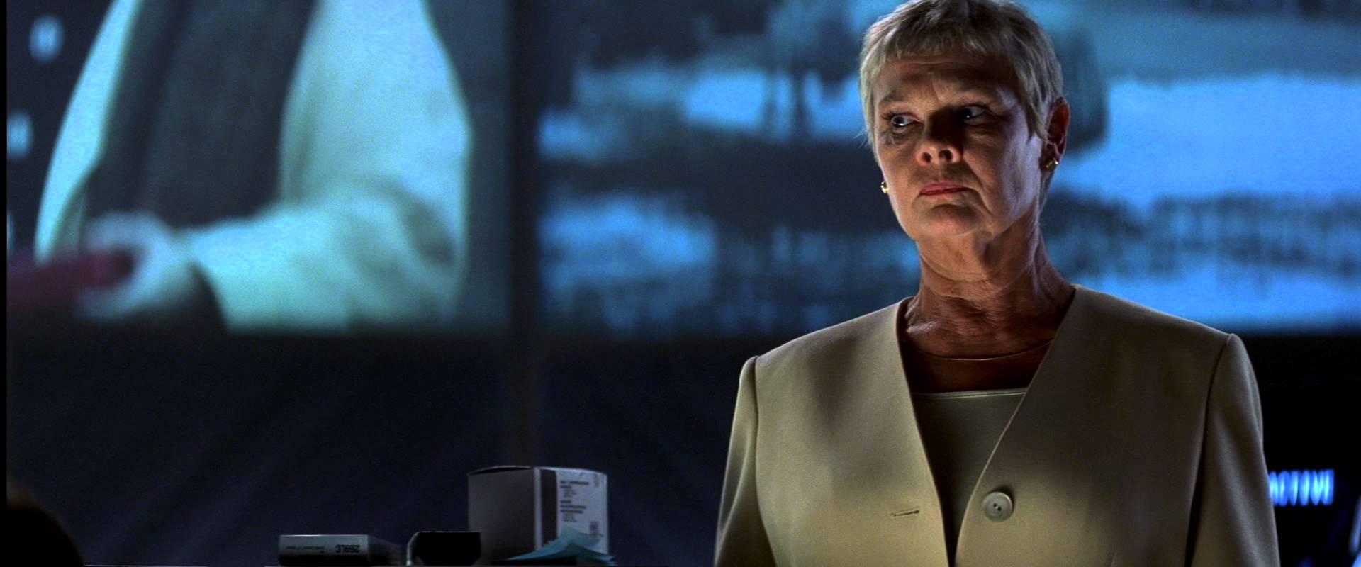 Judi Dench in James Bond Tomorrow Never Dies