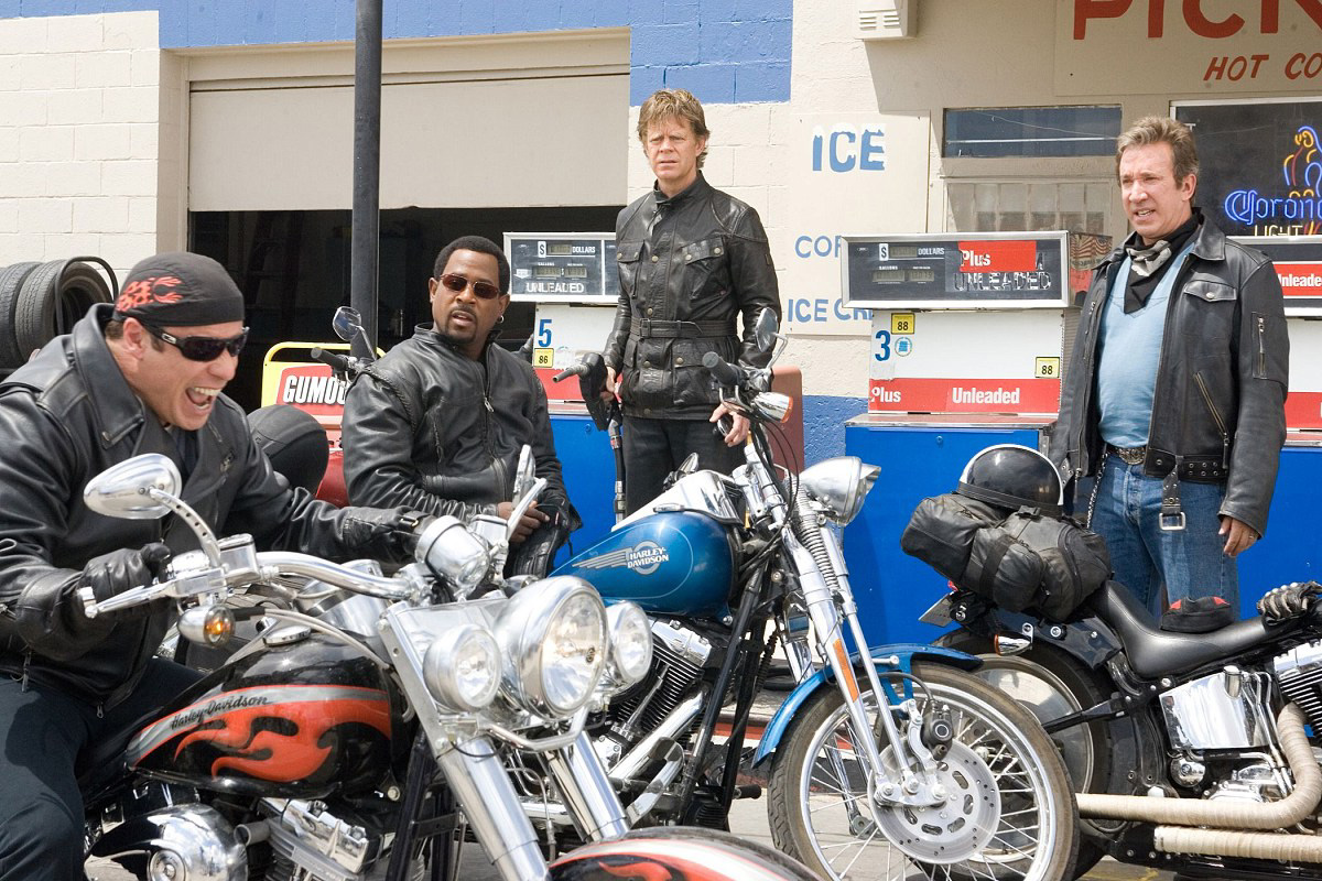 A bunch of dudes trying desperately to assert their masculinity in Wild Hogs