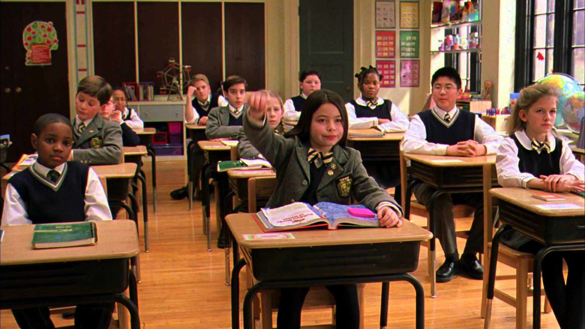 Students in classroom in Linklater's School of Rock