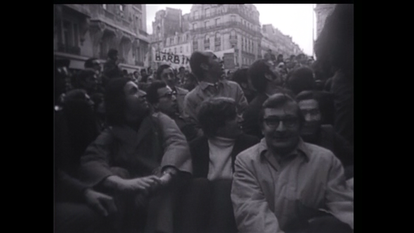 Claude Chabrol and others in '68 in Henri Langlois: Phantom of the Cinematheque