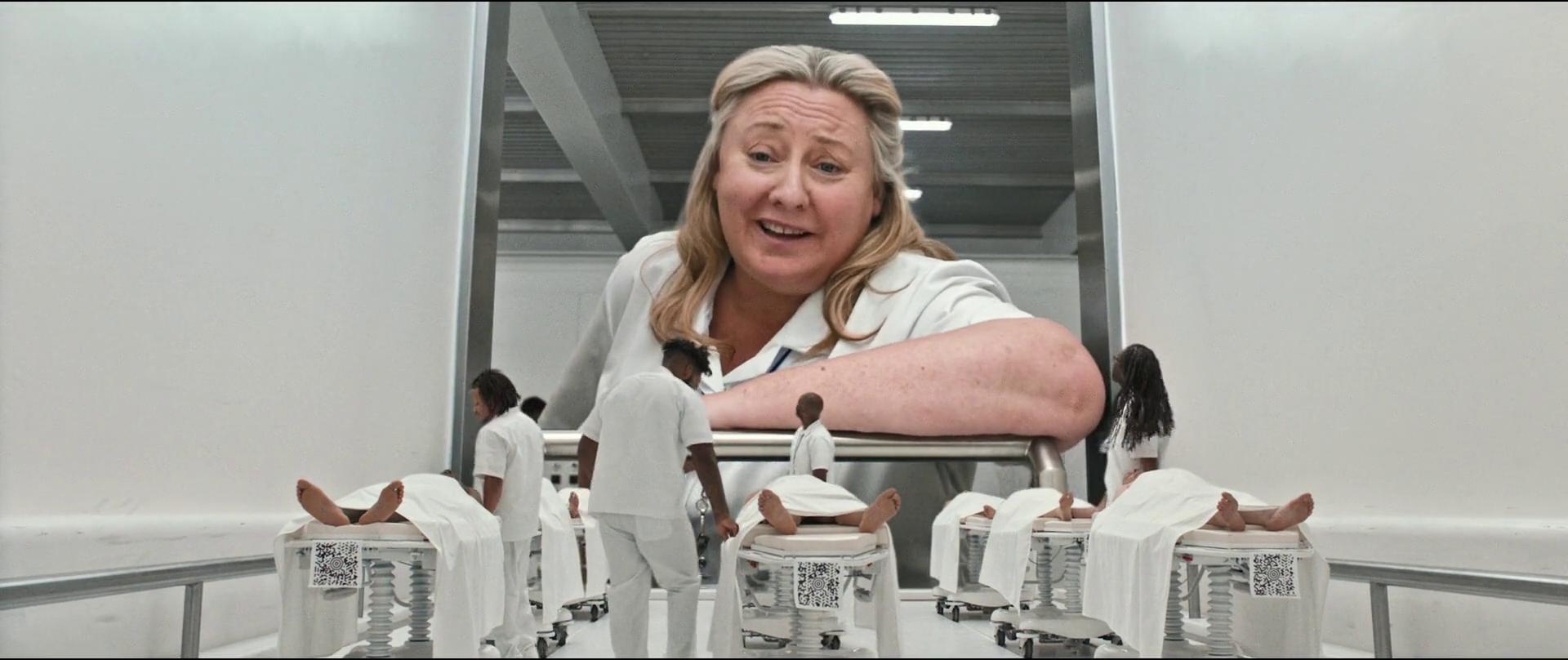 Downsizing big nurse lady