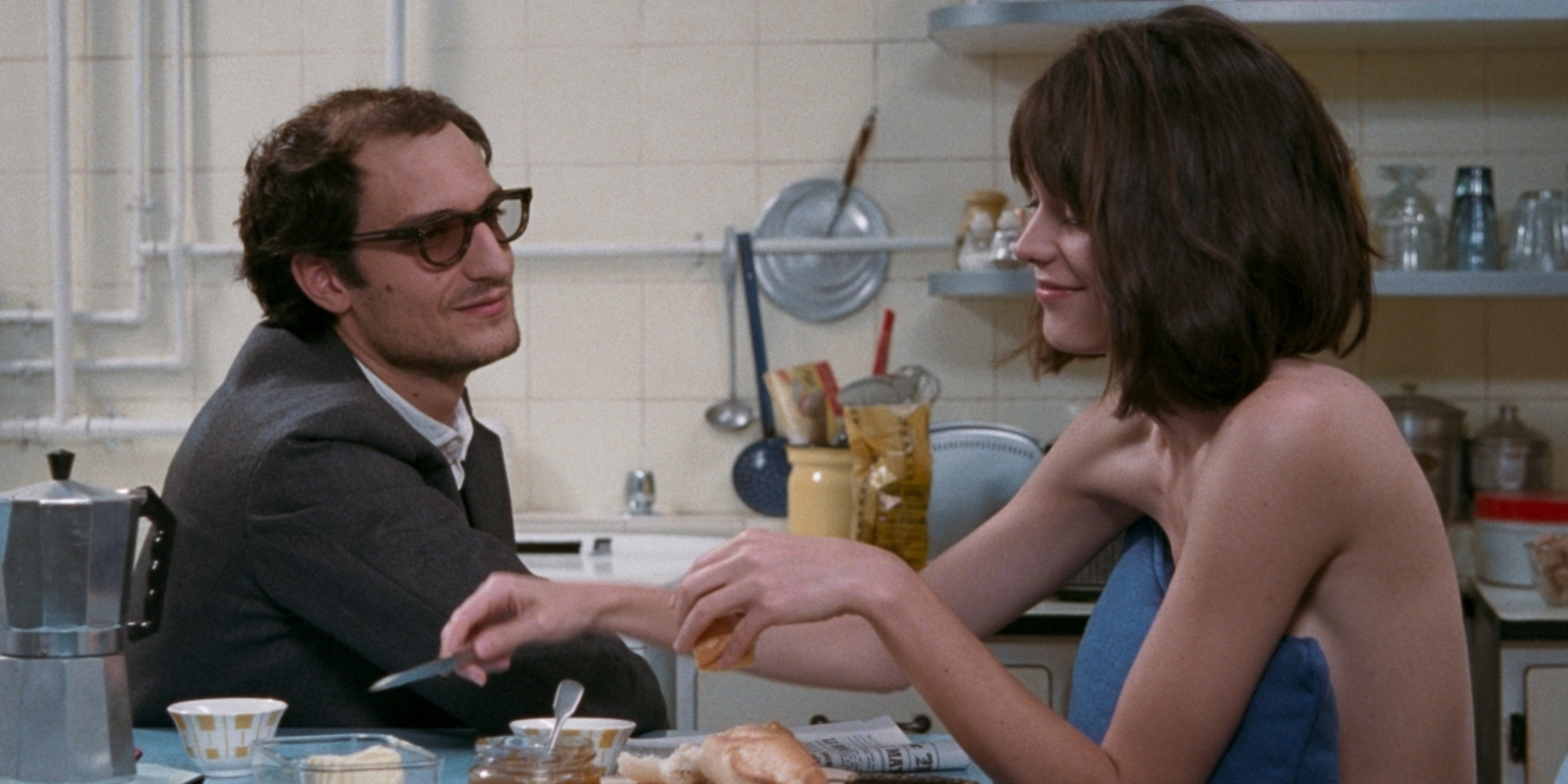 Louis Garrel and Stacy Martin in Hazanavicius' Godard Mon Amour