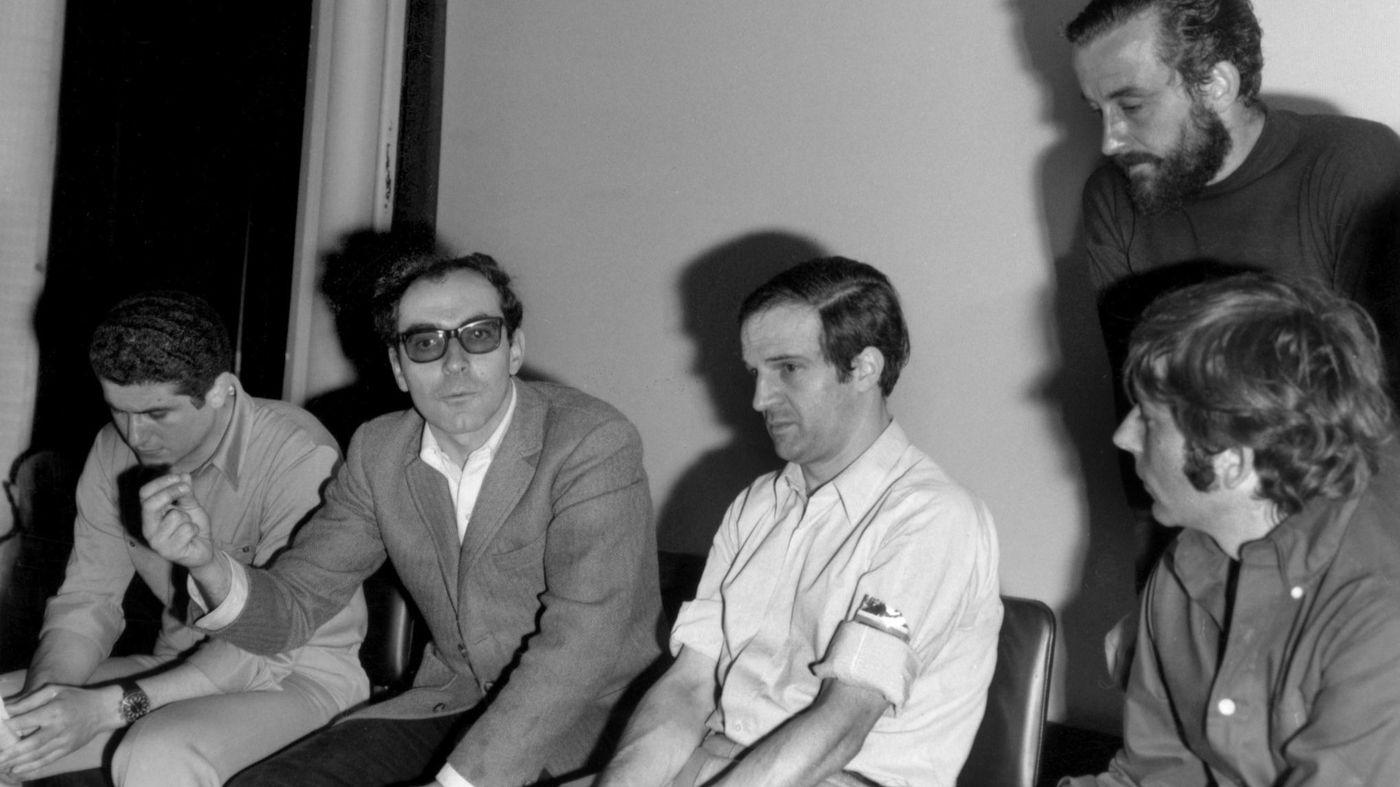 Godard Truffaut in Cannes 1968