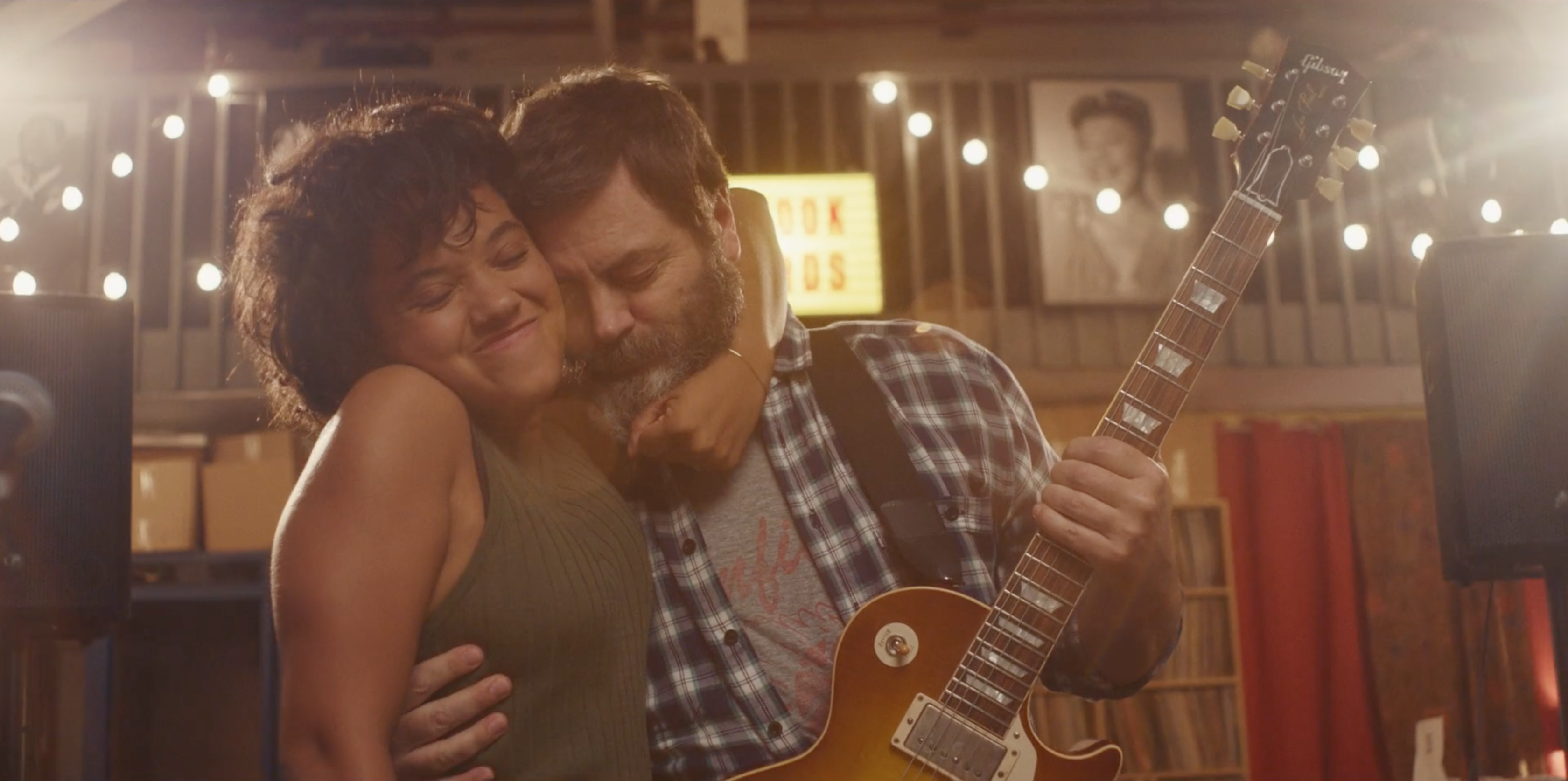 Kiersey Clemons and Nick Offerman in Hearts Beat Loud