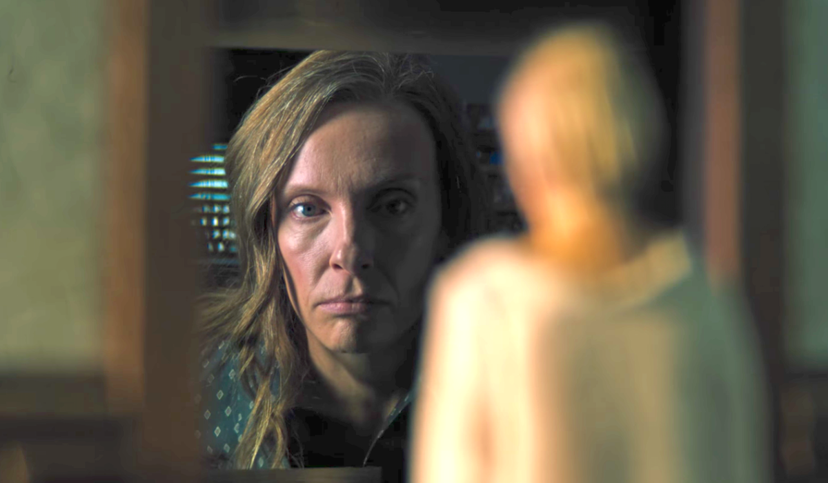 Toni Collette and miniature in Hereditary