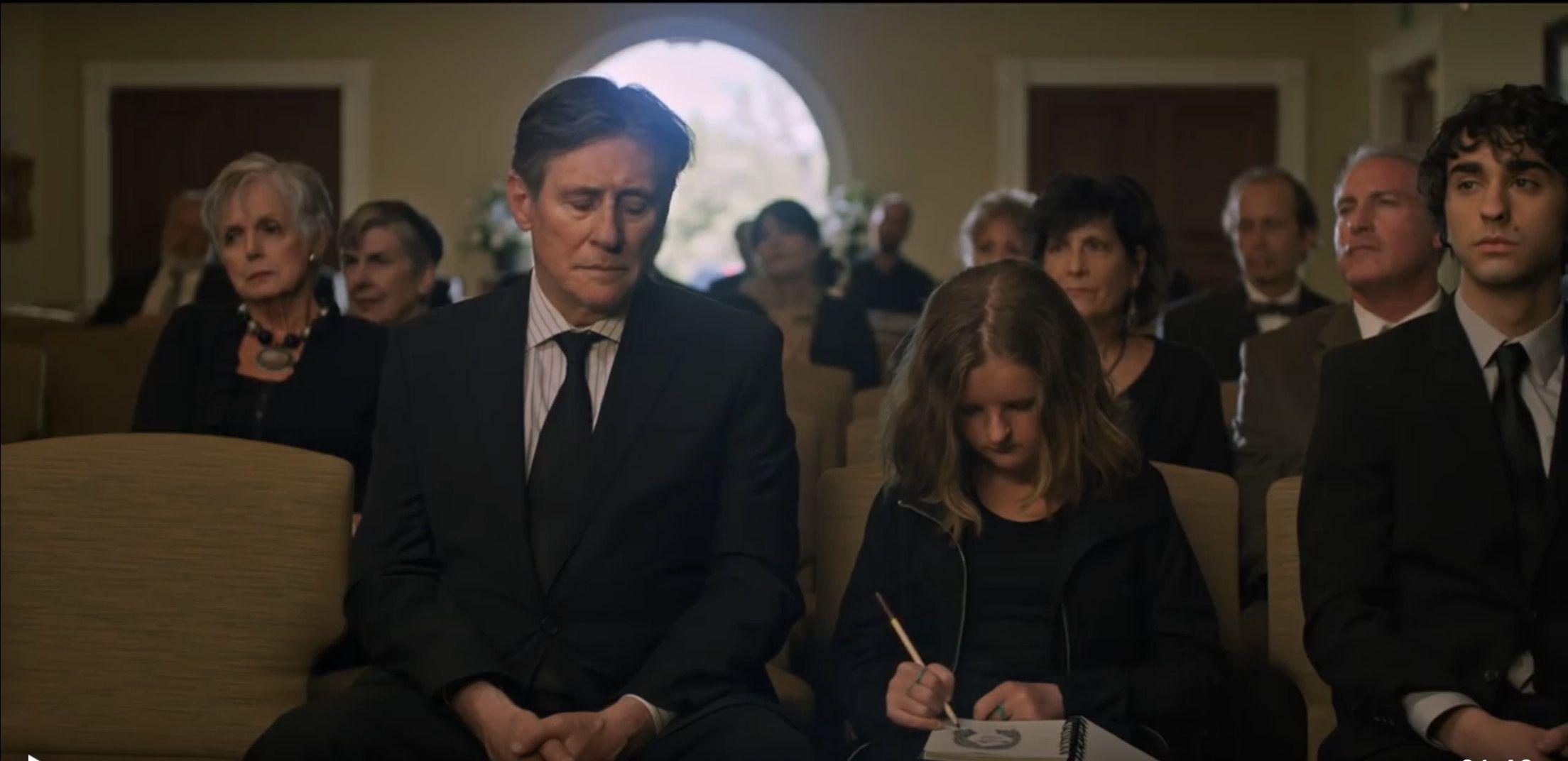 Gabriel Byrne, Milly Shapiro, and Alex Wolff in Hereditary