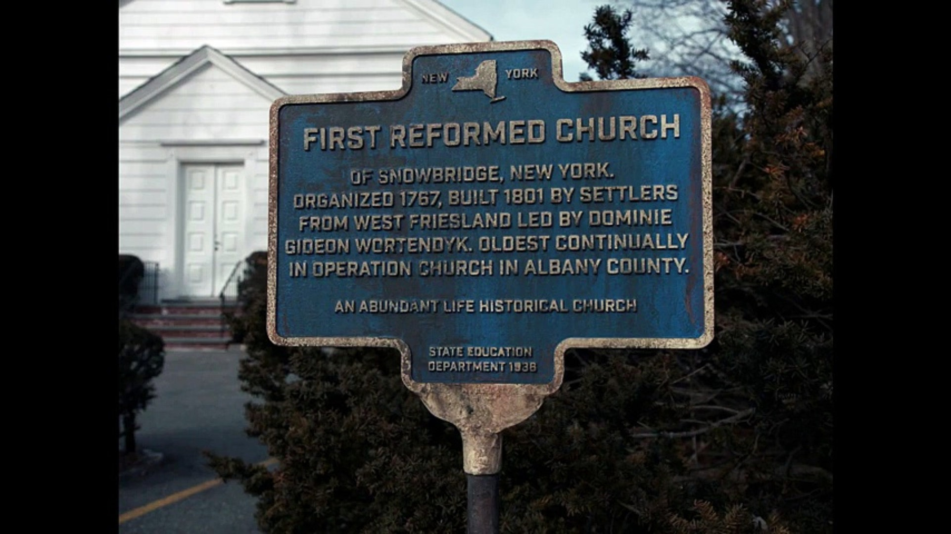 First Reformed church sign