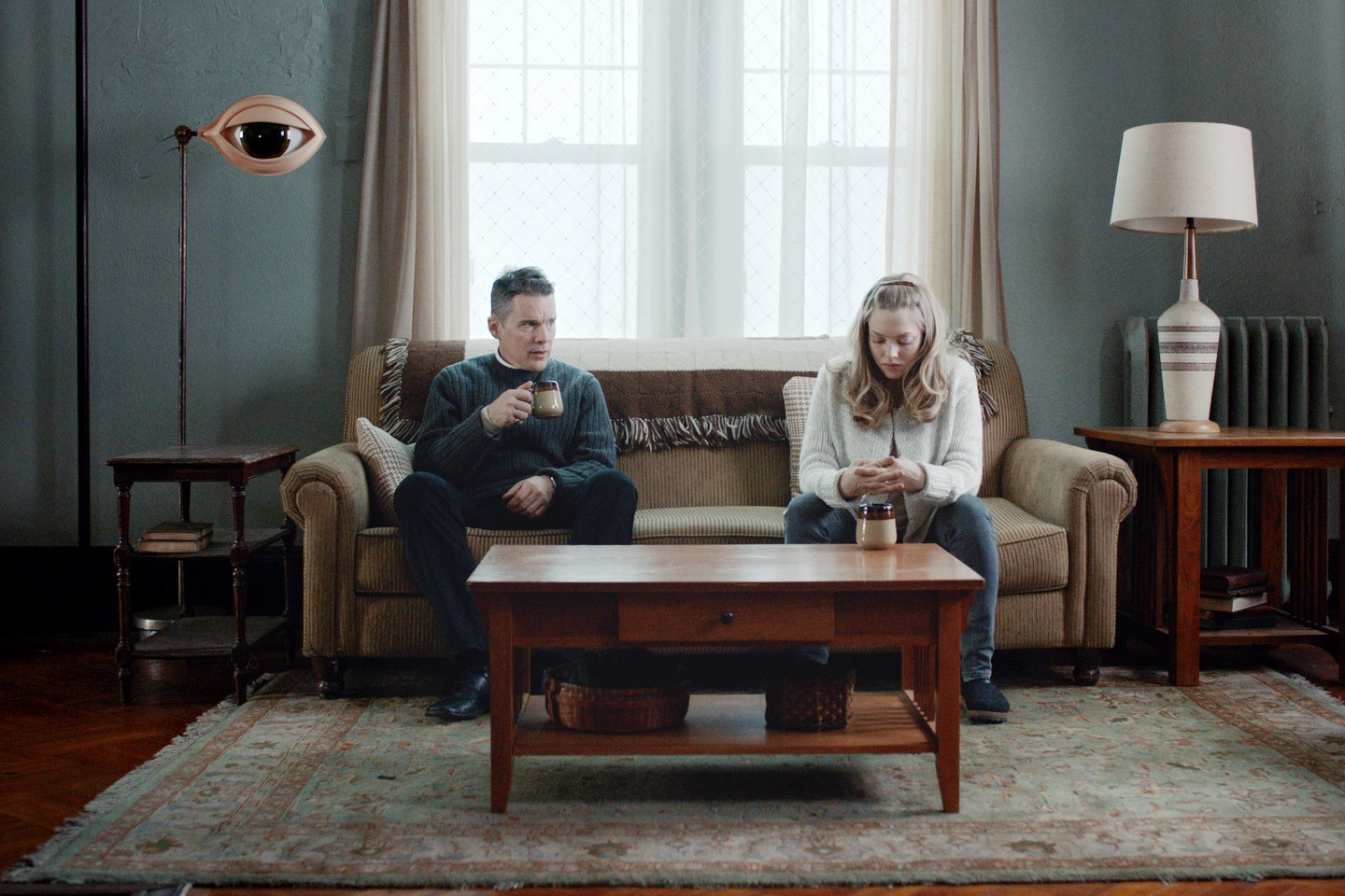 Ethan Hawke and Amanda Seyfried in Paul Schrader's First Reformed